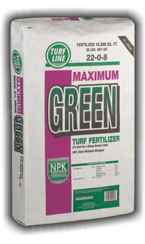 TurfLine Maximum Green Turf Fertilizer, 10,000 sqft