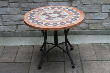 Terra Cotta Mosaic Accent Table