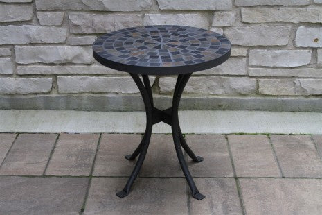 Natural Slate Cobble Stone Mosaic Accent Table