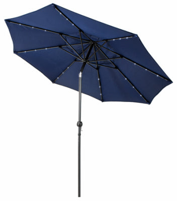 Market Umbrella, Navy with LED Lights
