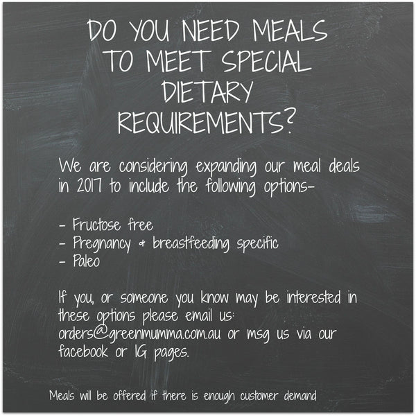 Do You Need Meals To Meet Special Dietary Requirements
