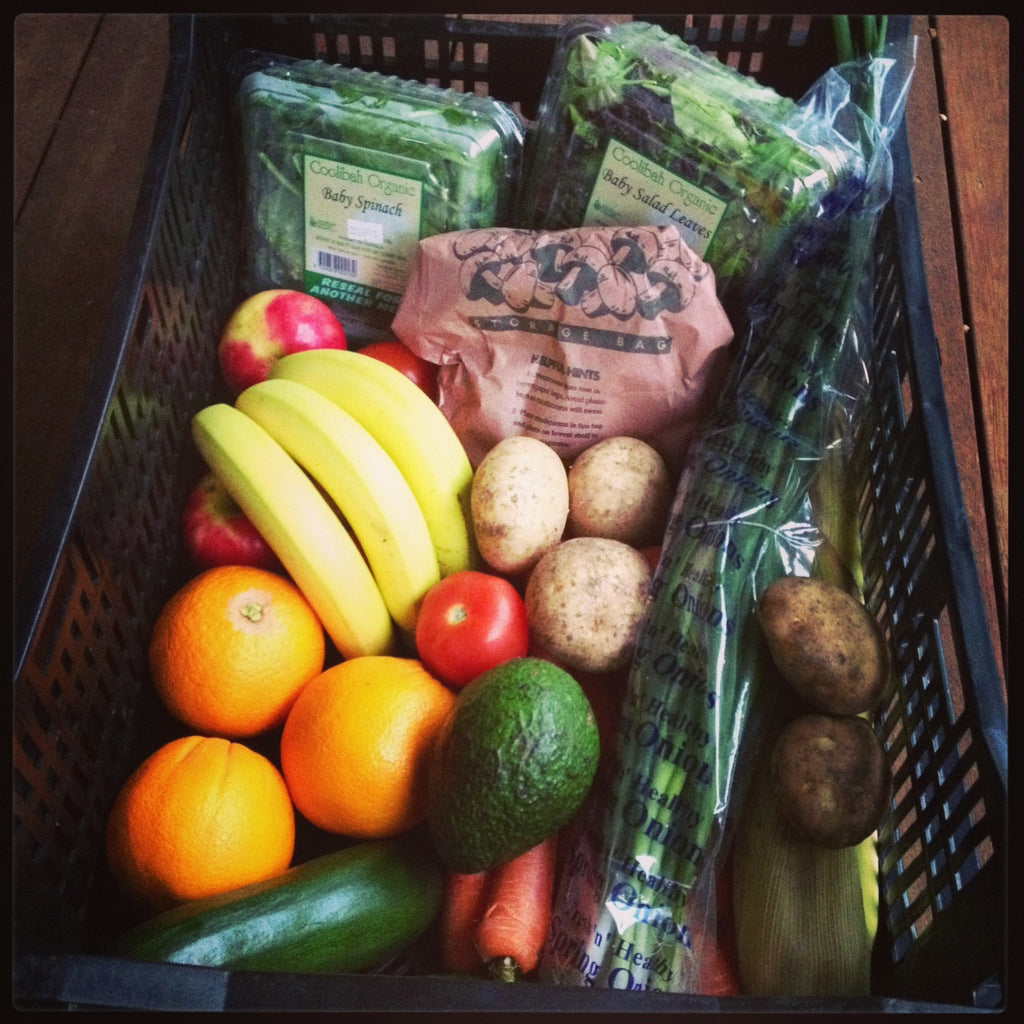 Large Organic Produce box - Green Mumma