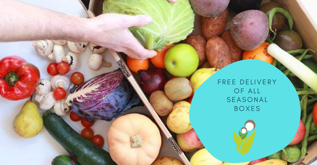 Free delivery - Seasonal Organic Produce Boxes