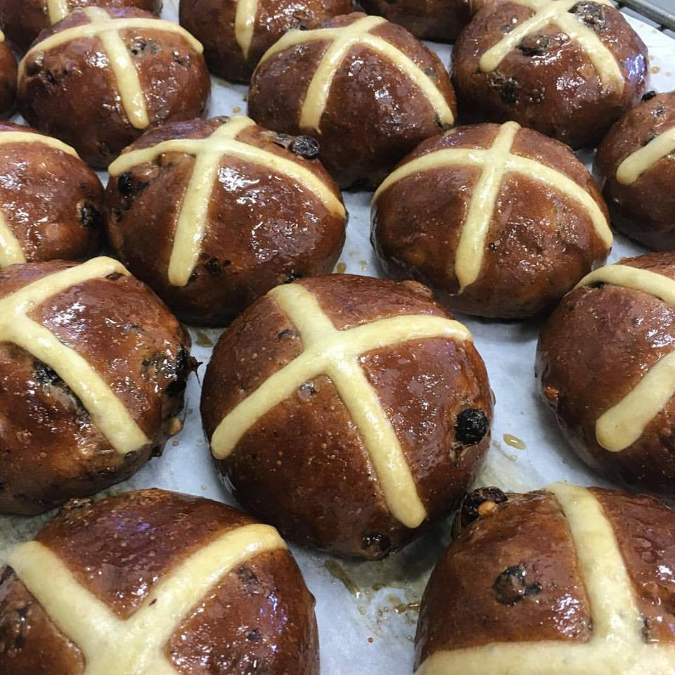 Sourdough Hot cross buns - from Born and Bread