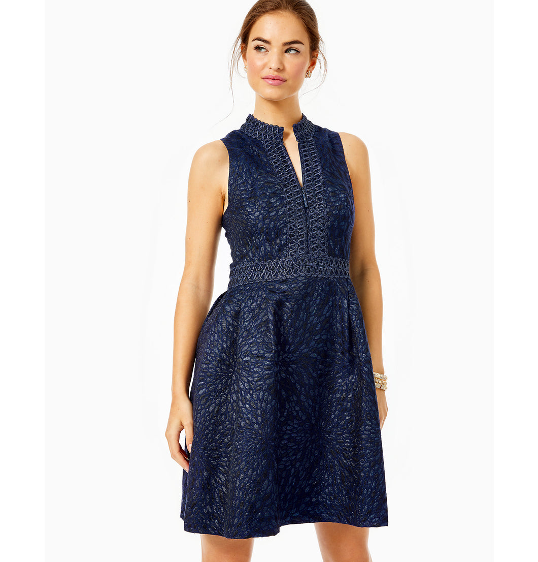 Franci High Collar Dress