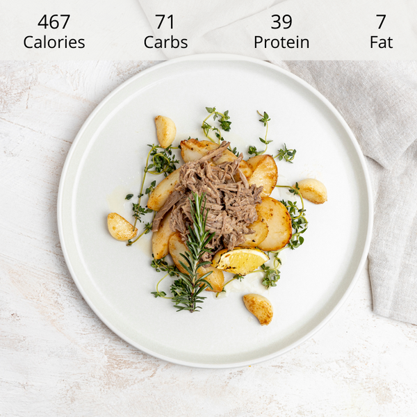 Slow Cooked Lamb with Lemon Potatoes (DF) (GF)