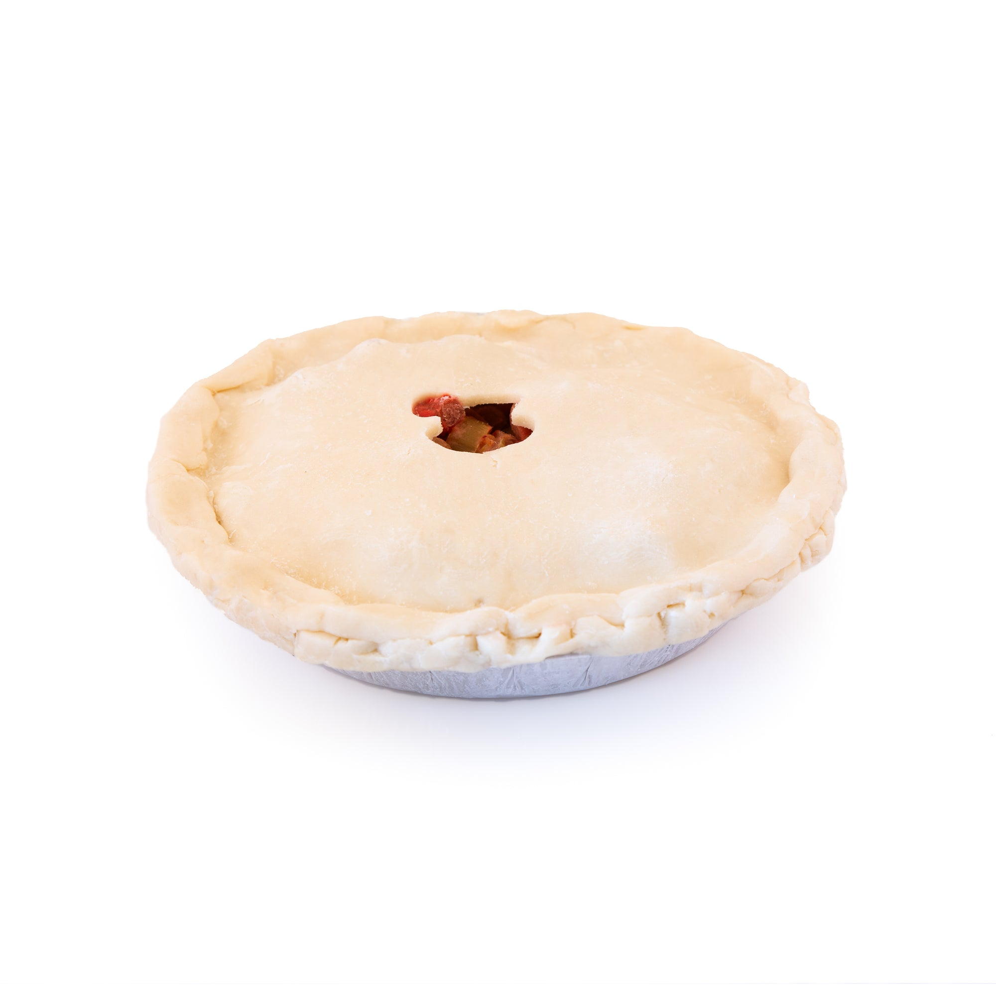 Frozen (unbaked) Saskatoon Black Currant Pie