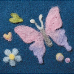 real wool shop - butterfly felting