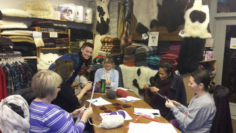 Beginners Knitting Class at the Real Wool Shop in Carleton Place