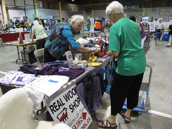 Real Wool Shop at the Seniors Expo in Almonte, Ontario