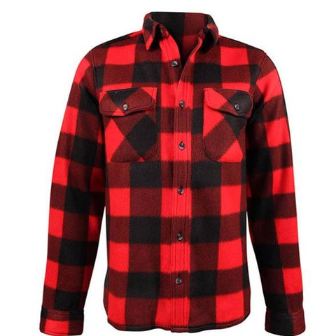 Fleece Plaid Red Black Shirt- Kids 7020K