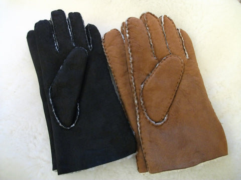 Lambskin Suede Gloves - Men's