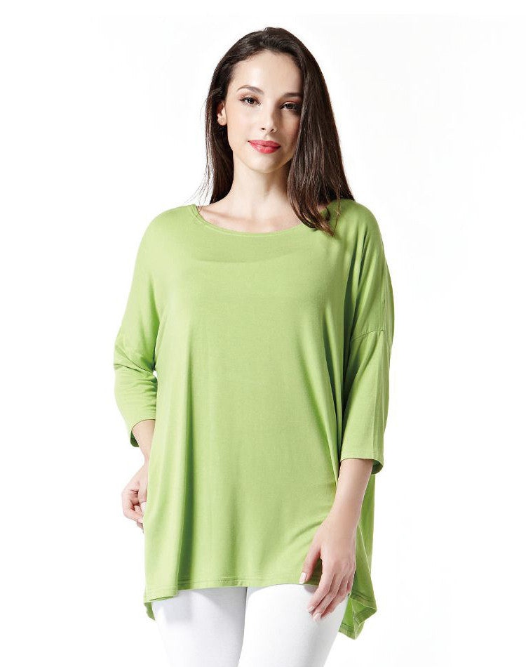 Bamboo 3/4 sleeve top #010