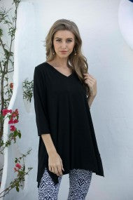 Top Rayon from Bamboo V-Neck 689