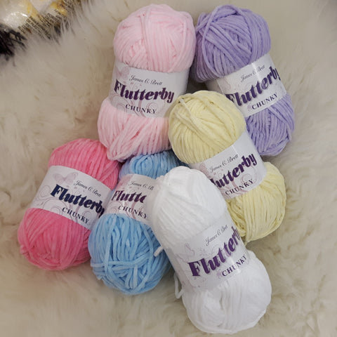 Yarn - James C Brett Flutterby Chunky  - 100% Supersoft Polyester