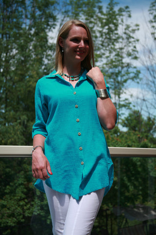 Shirt Cotton 3/4 Sleeve Ezze Wear Mieke 478