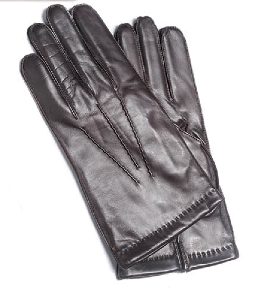 Gloves Leather/Cashmere Lining Men's