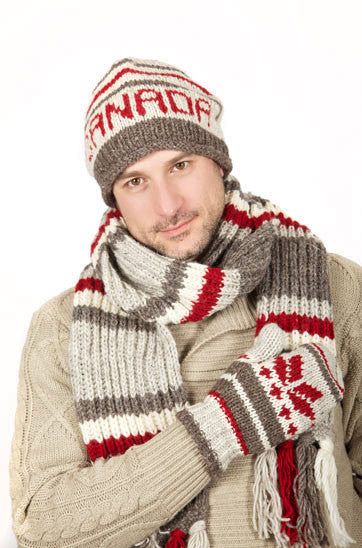Hat-Wool Hand Knit Canada Collection - Beige
