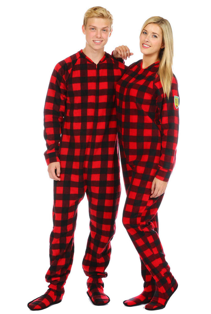 Onesie- Canada Plaid Adult Footed- Unisex SNUAFT