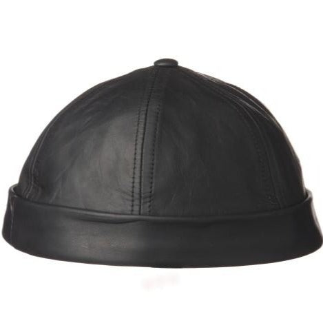 Hat Distressed Oiled Lambskin Beanie