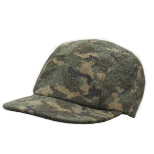 Hat- Crowncap Five panel Camo Baseball cap