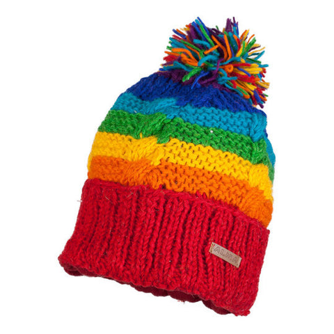 Hat Wool Hand Knit-Rainbow Collection 1090