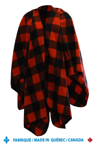 Fleece Plaid Cape 9004