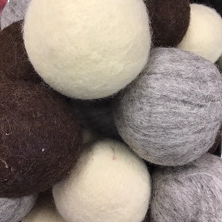 Dryer Balls Wool Cream Grey Brown