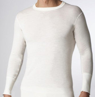 Men's wool long sleeve underwear