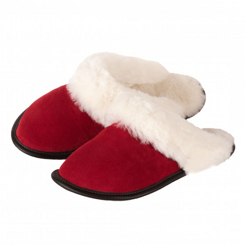 Sheepskin Slip-on Slippers with Cuff Ladies