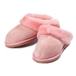 Ladies Shearling Scuff Slipper - Pink