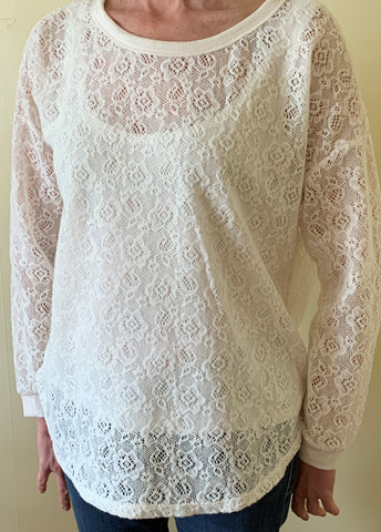 Top - Lace Overlay - Tribal