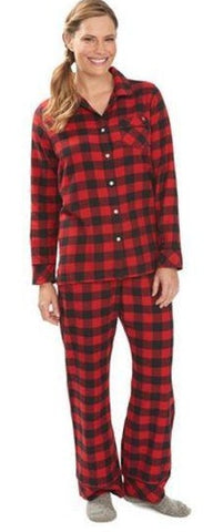 Flannel Pajama Set-Ladies