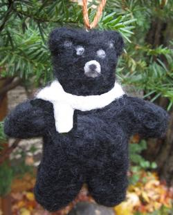 Felted bear black