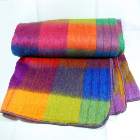 Blanket - Alpaca - Rainbow - Double & Queen
