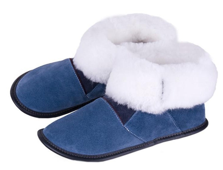 Garneau Highcut Sheepskin Slippers blue