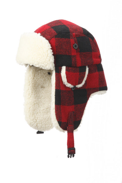 Hat- Buffalo Check Aviator