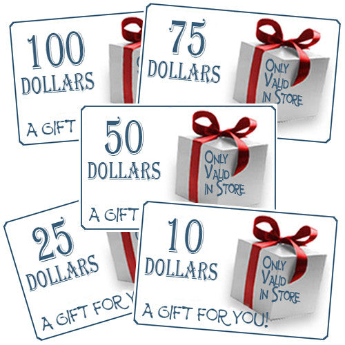 In store gift card