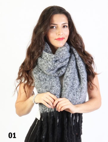 Scarf Boucle Mixed Colours