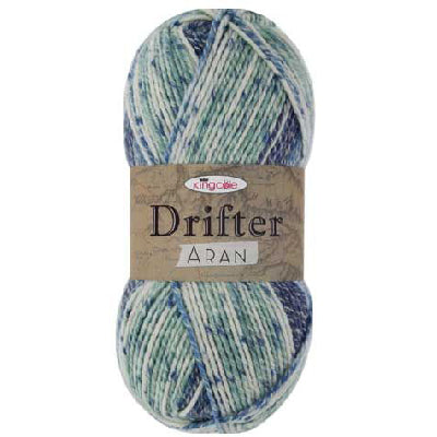 Yarn - King Cole - 'Drifter; Aran - 79% Acrylic / 17% Cotton / 4% Wool