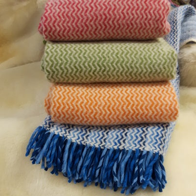 Throw - 100% Lamb's Wool - Various Colours