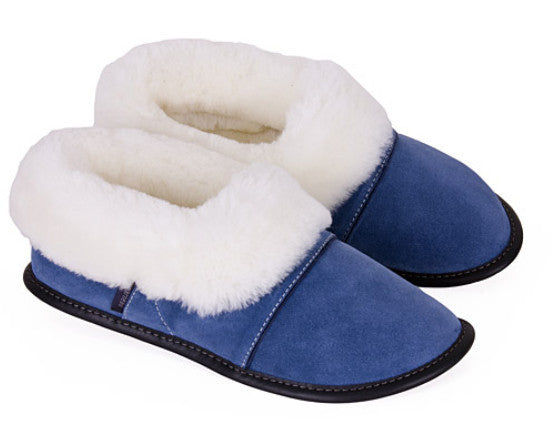 Garneau sheepskin slippers low cut blue