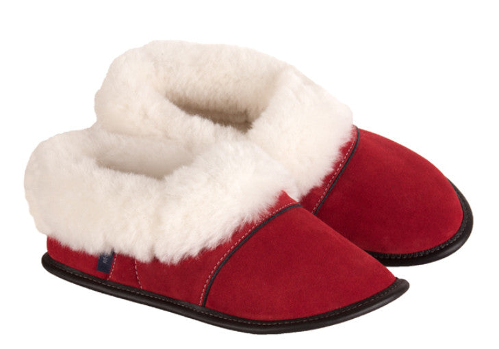 Garneau sheepskin slippers low cut red