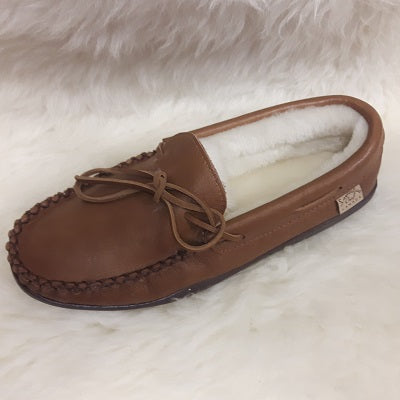 Moccasins - Moosehide - Sheepskin Lined - Men's