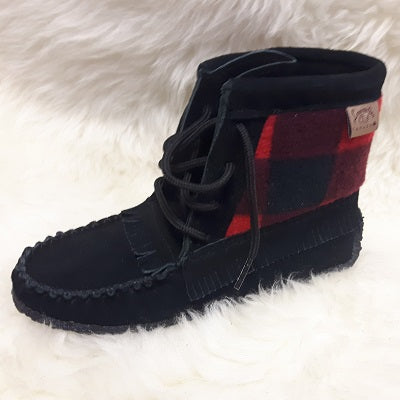 Moccasins Suede - Red/Black - Ladies - Sizes 5 & 11