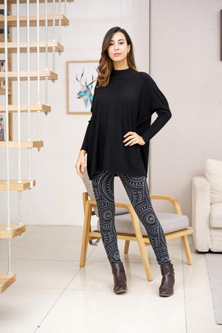 Sweater- Mock Neck top 5313