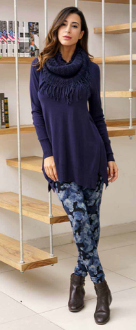 Tunic V-Neck with Scarf-Ladies