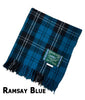 Ramsay Blue tartan wool throw