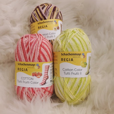 Yarn - Schachenmayr Regia Cotton Color Tutti Frutti Sock Yarn