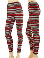 Leggings Fleece Lined Pattern-Ladies